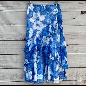 Beautiful Ralph Lauren silk floral skirt XL NWOT